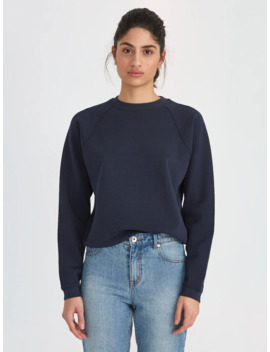 Good Cotton Gym Crewneck In Navy by Frank & Oak