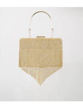 gold-diamanté-tassel-box-clutch-bag by new-look