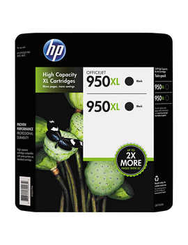 Hp 950 Xl High Yield Ink Cartridge, Black, 2 Count by Costco