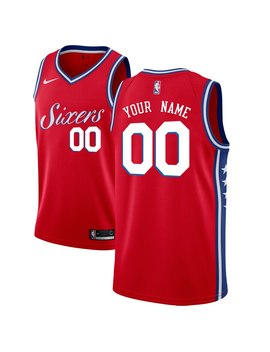 mens-philadelphia-76ers-nike-red-swingman-custom-jersey---statement-edition by nba-store
