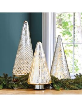 Lit Mercury Glass Trees by Ballard Designs