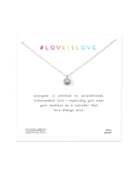 Love Is Love Rainbow Sphere Necklace, Sterling Silver by Dogeared