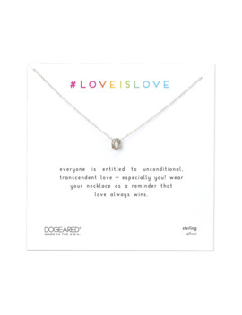 love-is-love-teeny-rainbow-ring-necklace,-sterling-silver by dogeared