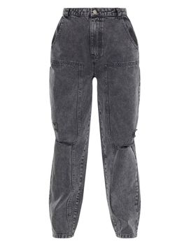 -washed-grey-baggy-cargo-boyfriend-jeans- by prettylittlething