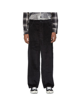 black-cord-letter-trousers by goodfight