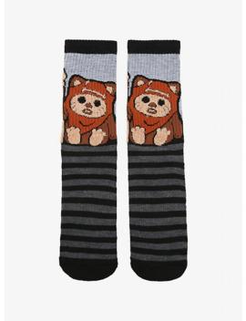 star-wars-fuzzy-ewok-striped-crew-socks by hot-topic