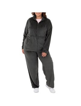 athletic-works-womens-plus-active-velour-jacket-and-pant-2-piece-set by athletic-works