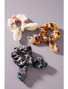 mary-burnout-velvet-ponytail-holder-set by anthropologie