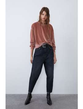 fluwelen-sweatshirt by zara