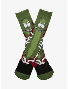 Rick And Morty Battle Pickle Rick Socks   Box Lunch Exclusive by Box Lunch