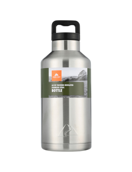 ozark-trail-64-ounce-double-wall-vacuum-sealed-stainless-steel-water-bottle,-white by ozark-trail
