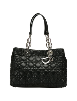 Dior Black Cannage Leather Small Soft Lady Dior Shopping Tote by The Luxury Closet