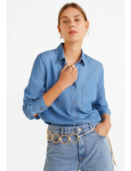 classic---button-down-blouse by mango