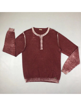 john-galliano-garment-dyed-cotton-red-sweater by john-galliano  ×