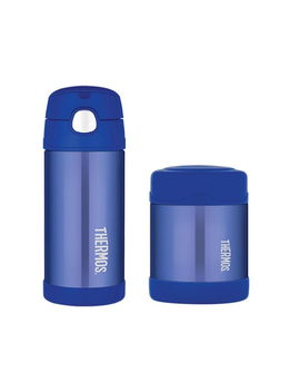 Thermos Funtainer 355ml Drink Bottle + 290ml Food Jar   Blue by Catch