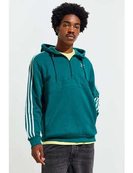 adidas-3-stripes-half-zip-hoodie-sweatshirt by adidas