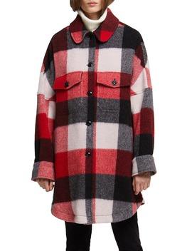buffalo-check-wool-blend-coat by woolrich
