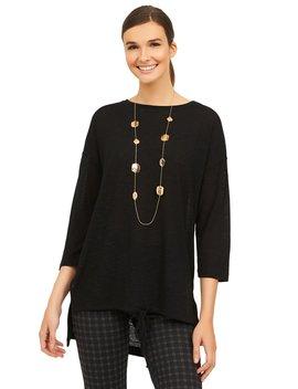 ¾ Dolman Sleeve Slub Sweater Knit by Suzy Shier