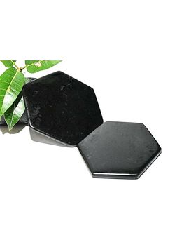 black-tourmaline-crystal-polished-stone-coaster-placemat-67-72mm-_-25-3-inch by ebay-seller