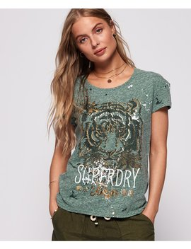 tiger-splatter-slim-boyfriend-t-shirt by superdry