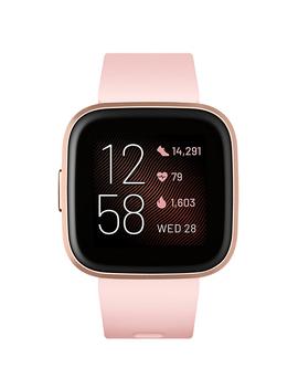Fitbit Versa 2 Petal And Copper Rose Aluminum Fitness Smartwatch   Fb507 Rgpk by Fitbit Versa 2 Petal And Copper Rose Aluminum Fitness Smartwatch