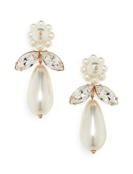 clustered-imitation-pearl-drop-earrings by simone-rocha