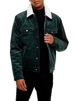borg-faux-fleece-lined-corduroy-trucker-jacket by topman
