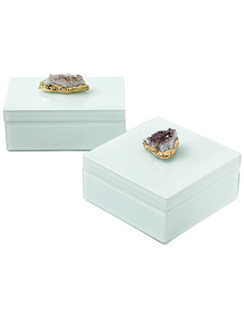 twos-company-set-of-2-amethyst-geode-hinged-box-glass-lined-box by twos-company
