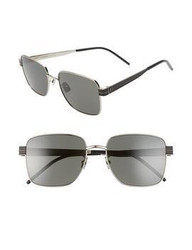 57mm-square-sunglasses by saint-laurent