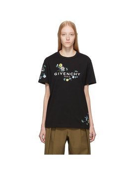 black-masculine-floral-embroidered-t-shirt by givenchy