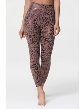 animal-foil-midi-legging---golden-leopard by onzie