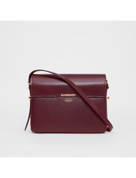 Large Two Tone Leather Grace Bag by Burberry