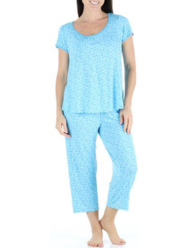 bsoft-womens-sleepwear-bamboo-jersey-short-sleeve-top-and-capri-pajama-set by bsoft