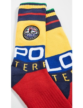 Limited Edition: Terrain Patch Crew Socks by Polo Ralph Lauren
