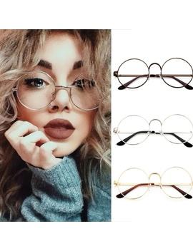 korean-style-fashion-designer-metal-frame-girls-round-glasses-clear-lens-nerd-geek-eyewear-school-student-glasses-fashion-accessories by wish