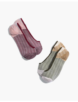 two-pack-patterned-colorblock-low-profile-socks by madewell