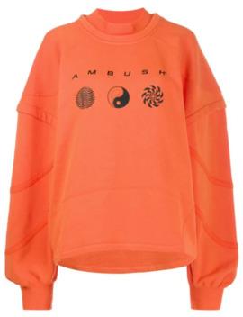 patchwork-logo-sweatshirt by ambush