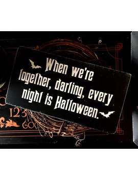 morticia-and-gomez-plaque,-halloween,-love,-goth,-wedding,-anniversary,-gift-idea,-couple,-romantic,-horror,-witchcraft,-dark-art by etsy