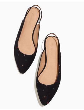 the-margot-slingback-flat-in-embroidered-suede by madewell