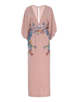 silk-velvet-embroidered-plunge-dress by costarellos