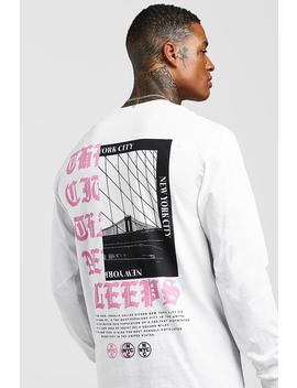 long-sleeve-new-york-city-back-print-t-shirt by boohoo