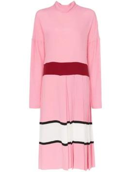 콘트라스트-웨이스트-플리츠-스커트-미디-드레스 by marni