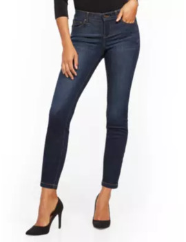 Mid Rise Shaping No Gap Super Skinny Jeans   Blue Tease by New York & Company