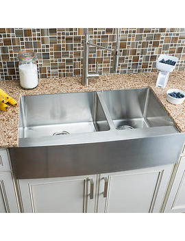 Hahn Chef Series Extra Large 60/40 Curved Farmhouse Sink by Hahn