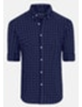 Blue Gleeson Check Slim Shirt by Connor