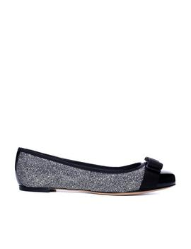 quilted-varina-flat-silver by salvatore-ferragamo