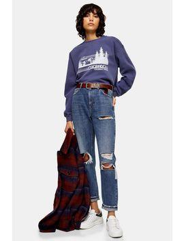 blue-colorado-sweatshirt by topshop