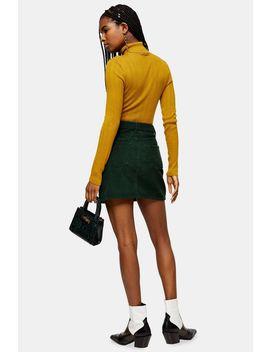 green-corduroy-mini-skirt by topshop