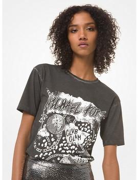 Graphic Logo Cotton Jersey Boyfriend T Shirt by Michael Michael Kors