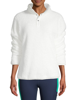 athletic-works-womens-athleisure-1_4-button-sherpa-pullover by athletic-works